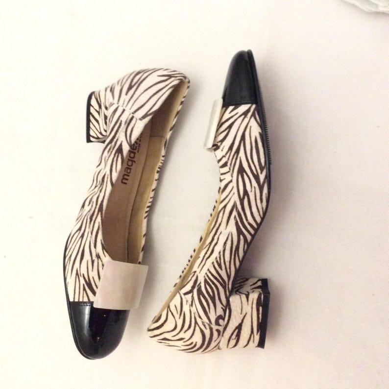 0bf6268fb66 Vintage Mod funky retro chunky block heel shoes pumps heels