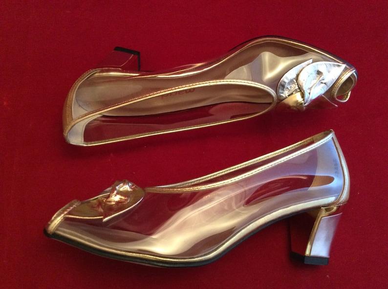50972b27c77 Vintage Transparent Clear PVC Plastic 80s Heels pumps shoes