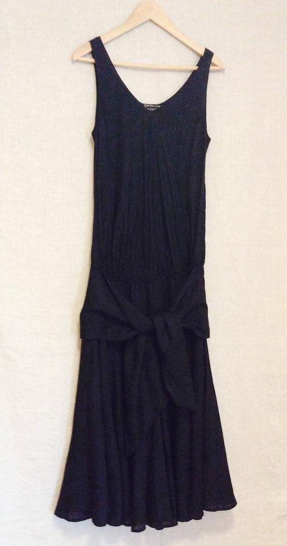 Vintage Carole Little lagenlook dress 8 to 10 blac