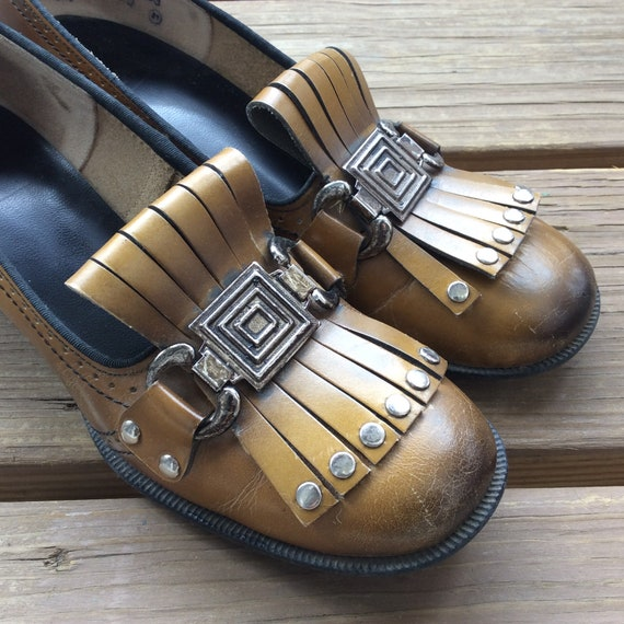 60s mod loafers kilt shoes heels true vintage retr