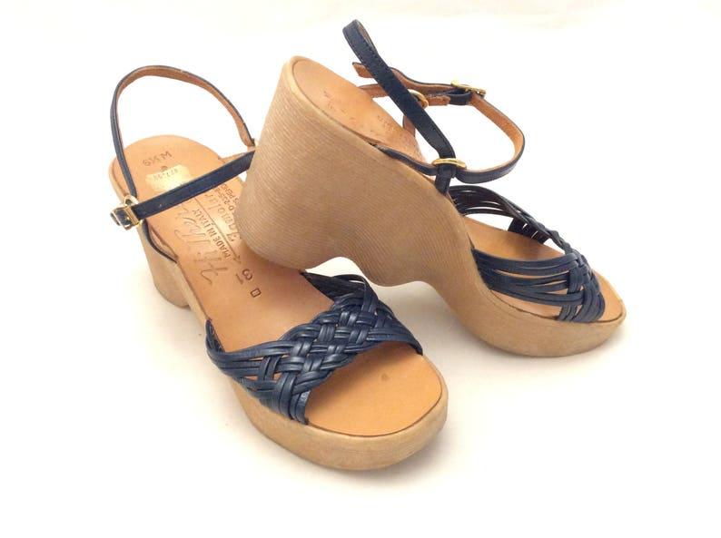Il Famolare Sandales Vintage Salut Marine Bleu RétroEtsy CxoBerd