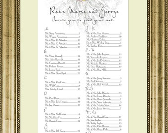 Flower Seating Chart, Digital, Garden Table Assignment, Wedding, Party, Choose Sm, Md, or Lg sizes for approximately 130 to 300 guests