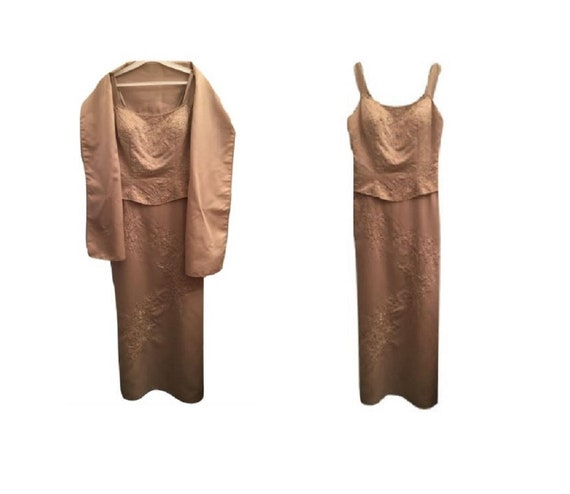 Vintage ASPEED Sleeveless Hand Beaded Evening Gown