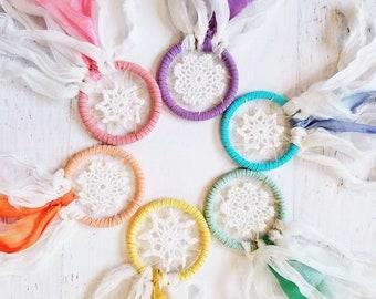 Rainbow Doily Dreamcatcher Set