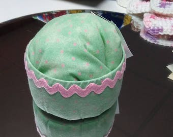Pink and green polka dot Pin Cushion
