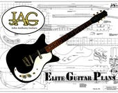 Plan to build Danelectro 3021 Electric Guitar Ideal Musicians Gift DIY project P079