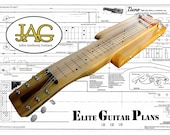 Plan to build Danelectro style lapsteel Electric Guitar DIY project or ideal Musicians gift .P029