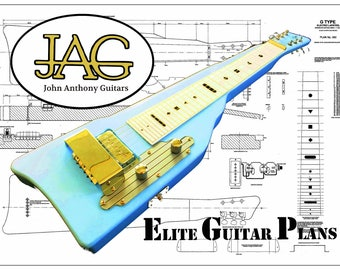 Plan to build Gretsch style Electric Lapsteel guitar/DIY project or ideal Musicians gift P060