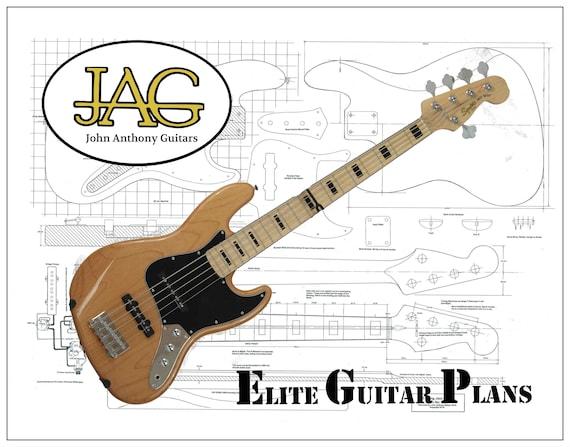 Plan Ein 5 String Jazz E Bass Gitarre Bauen Gerollt Diy Etsy