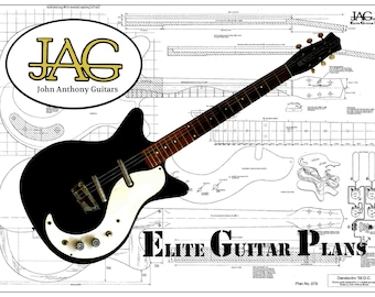 Plan to build Danelectro 3021 Electric Guitar/ Ideal Musicians Gift/ DIY project P079