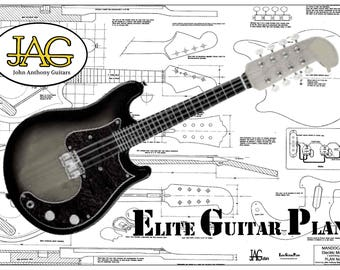 Plan to build Fender style Electric Mandocaster Guitar/DIY project or ideal musician gift P071