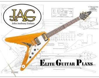Plan to build Gibson Flying V Electric Guitar/ DIY project or ideal Musicians gift .P003