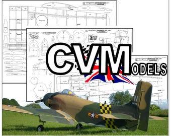 "PDF Download to build this ""Douglas Skyraider"" 75"" wingspan/120 engines model plane"