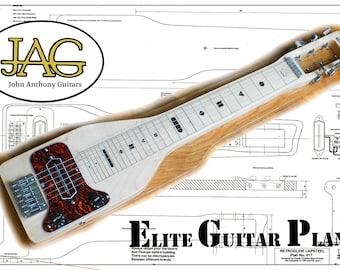 PDF Download to print plan to build Retroglide Lapsteel Guitar