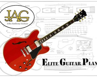 Plan to build a Gibson ES335 Electric Guitar/DIY project or ideal Musicians gift/  P036