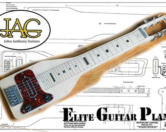 Plan to build a Retroglide style lapsteel Electric Guitar/DIY project or ideal Musicians gift/.P017