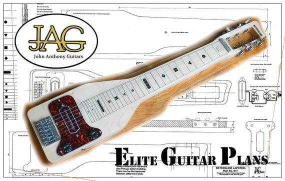 holiday electric guitar wiring diagram plan to build a retroglide style lapsteel electric guitar diy etsy  plan to build a retroglide style