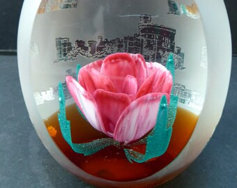 Vintage Limited Edition of only 200. SCOTTISH Caithness Glass Paperweight: Golden Jubilee by Colin Terris