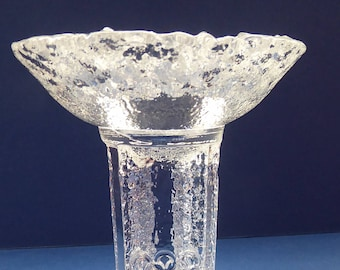 1980s ORREFORS Swedish Crystal OLYMPIC TORCH Candle Holder. Designed by Lars Hellsten for the 1984 Winter Olympics