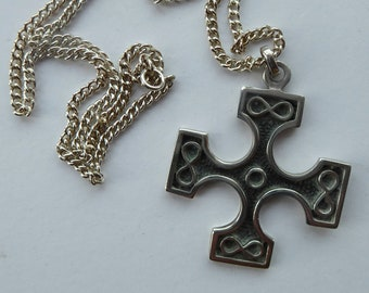 Scottish Silver Burrian Cross Pendant by OLA GORIE. Hallmarked and dating to the 1970s