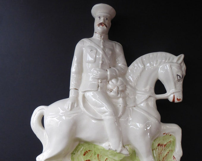 LORD KITCHENER. Antique Slip Cast STAFFORDSHIRE Figurine; c 1900. Excellent Condition