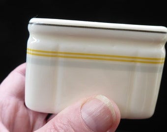 1930s Art Deco FOLEY China Cube Sugar Bowl : CUNARD STEAMSHIP Co. Issue. Excellent Condition
