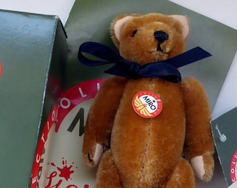 Vintage Miniature Honey Teddy Bear. Vintage Czechoslovakian Limited Edition. SIGIKID MIRO Renassiance Collection
