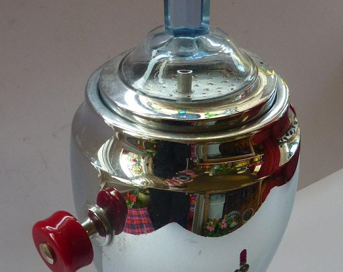 WMF Coffee Percolator  / Samovar / Kettle Spirit Burner. Chrome Plate Vintage 1930s ART DECO
