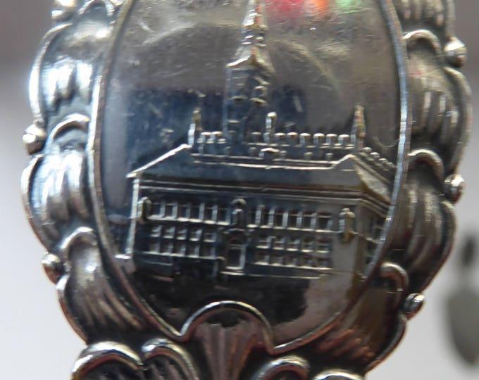 DANISH SILVER PLATE. Vintage Souvenir Caddy Spoon. Copenhagen Finial designs by Axel Prip