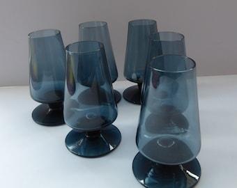 1960s STROMA. Classic Scottish CAITHNESS GLASS Twilight Coloured Liqueur or Shot Glasses