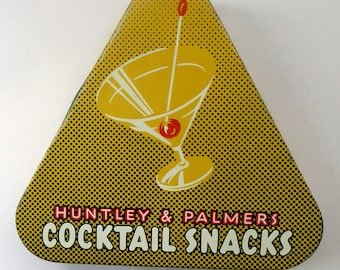 ATOMIC 1950s Huntley & Palmers Cocktail Snacks Tin