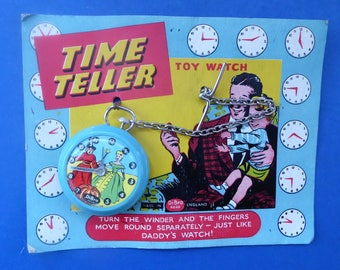 Very Rare CINDERELLA TOY Pocket Watch. Time Teller Watch - 1950s Issued by DiBro Ltd, England