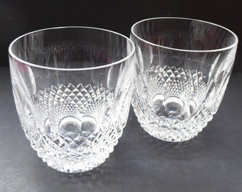 WATERFORD CRYSTAL. Pair of Vintage COLLEEN Whisky Glasses or Tumblers