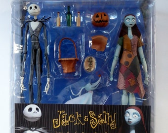 Tim Burton's Night Before Christmas Extremely Rare Sealed Jack & Sally Figurines