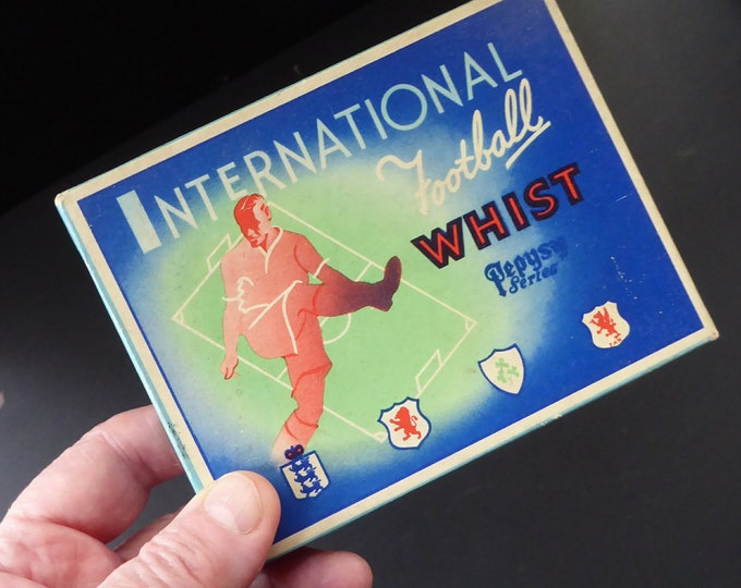 RARE VINTAGE Football Cards Game. International Football Whist published by Pepys Games, 1947
