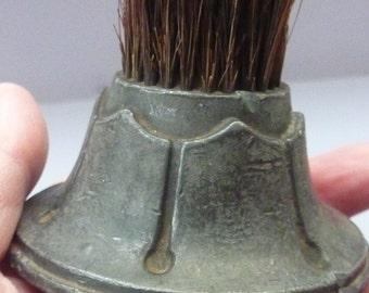 Fountain PEN NIB WIPE. Special Collector's Item. Antique Arts and Crafts. Heavy Lead & Bristle Desk Top Pen Nib Wipe / Cleaner.