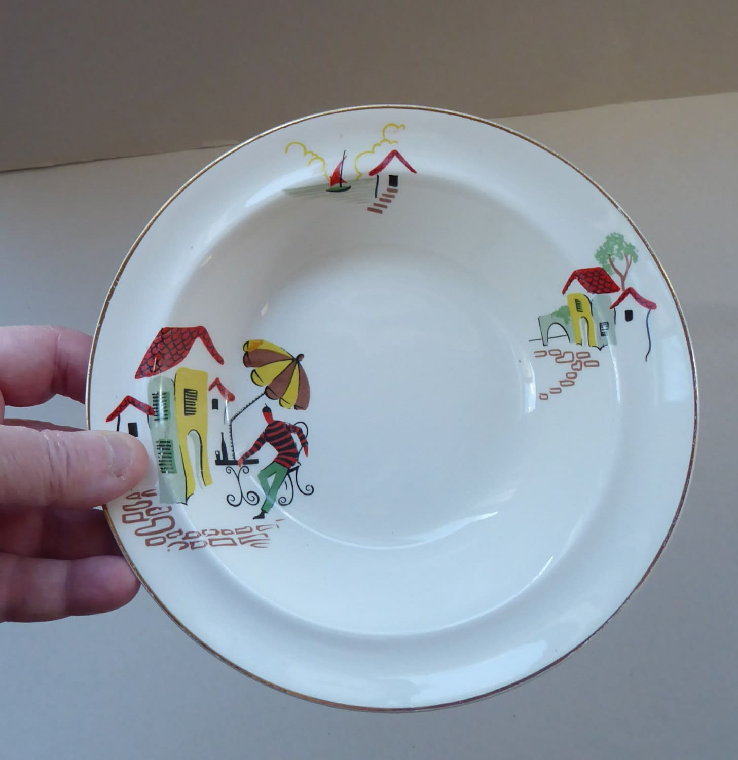 Fabulous Vintage 1950s Alfred Meakin 6 1/2 inch Cereal Bowl