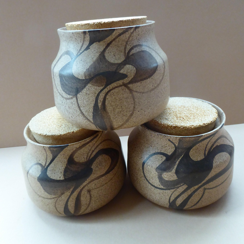 Vintage Studio Pottery Storage Jars Buy One Get One Free Kitchen Storage & Organization