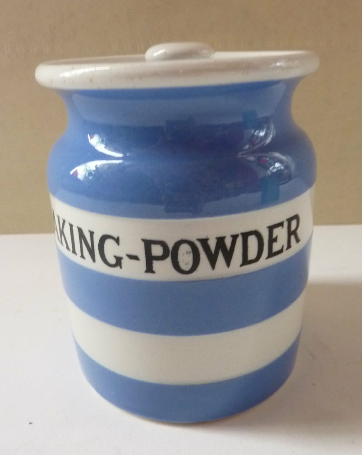 Vintage Cornishware T.G. Green BAKING POWER Spice Jar. Harder to ...