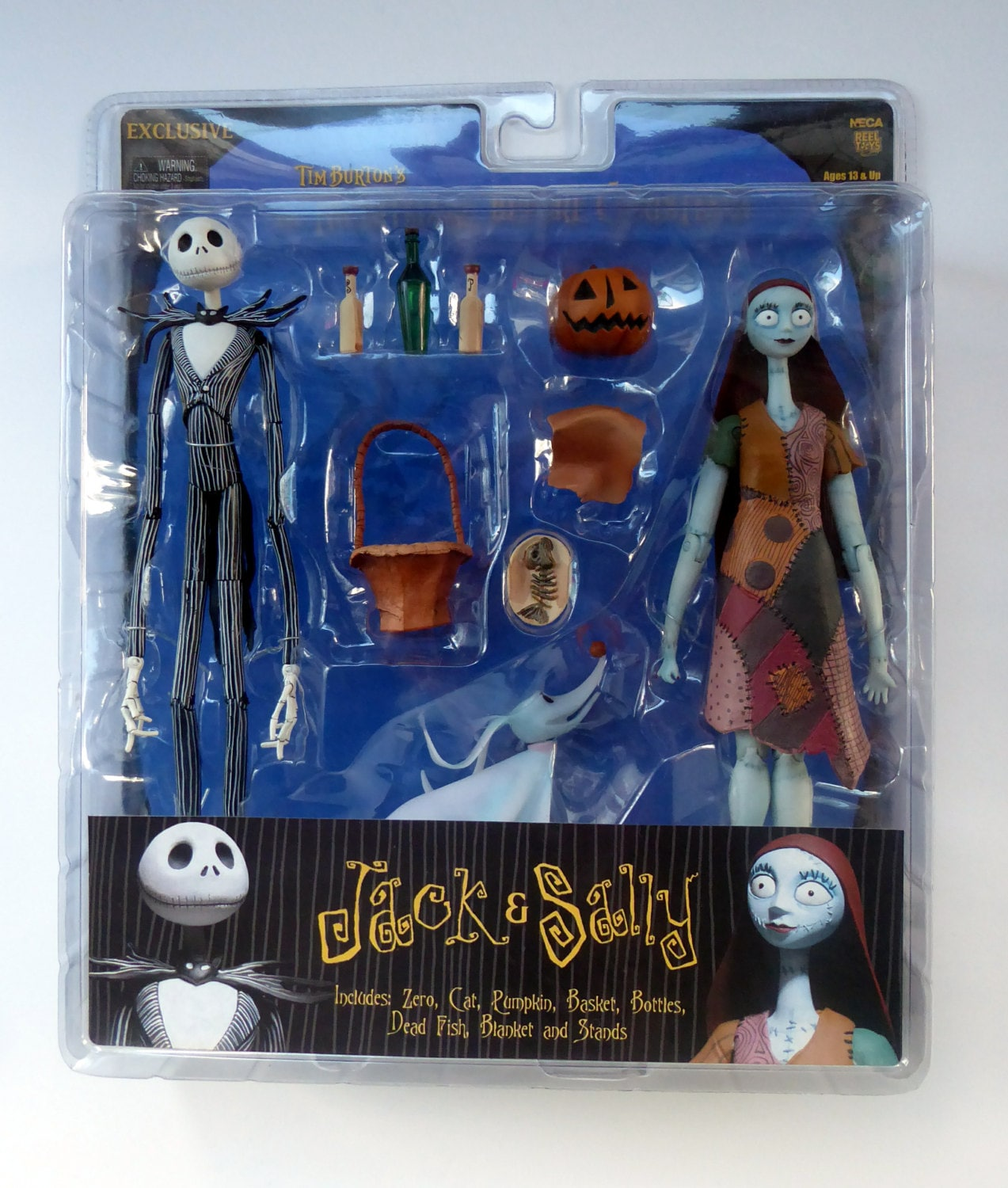 tim burtons night before christmas extremely rare sealed jack sally figurines - Sally From The Night Before Christmas
