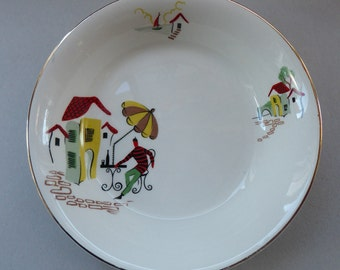 Fabulous Vintage 1950s Alfred Meakin 7 1/4 inch Pudding Bowl. RARE NICE PATTERN