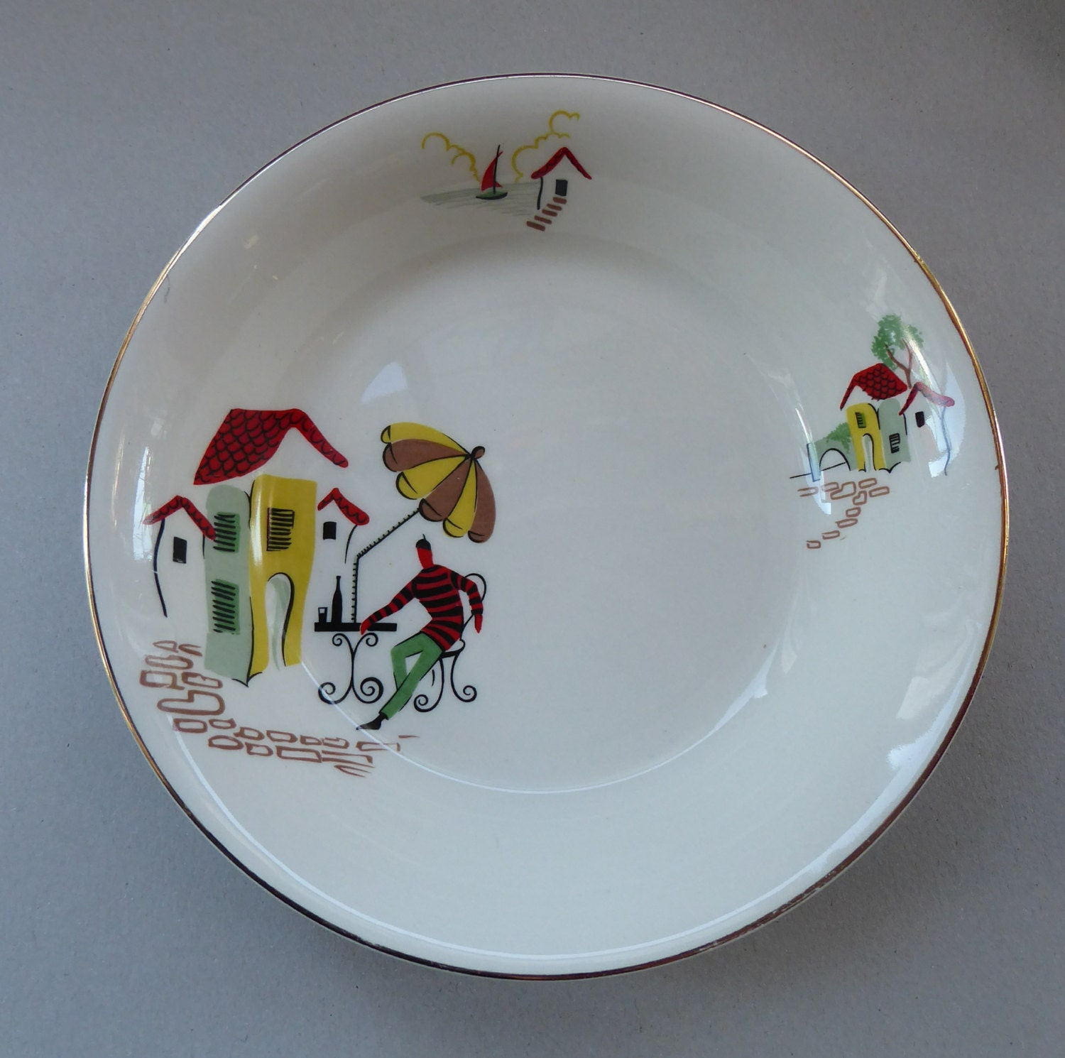 Fabulous Vintage 1950s Alfred Meakin 7 1/4 inch Pudding Bowl