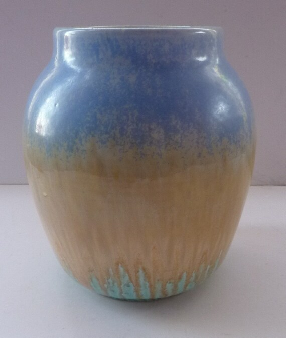 1930s Ruskin Pottery Vase With Subtle Powder Blue And Golden Etsy