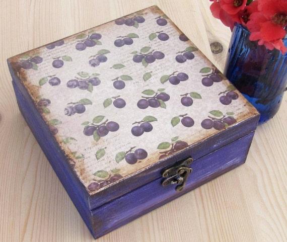 Plain Wood Tea Coffee Trinkets Jewellery Storage Box Decoupage