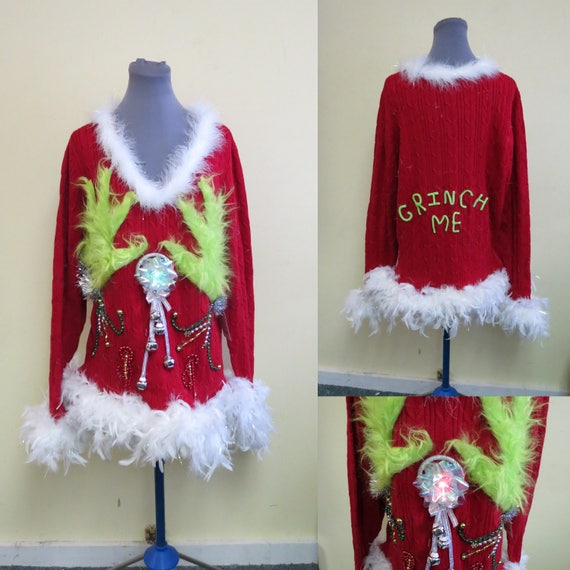 image 0 - Tacky Ugly Christmas Sweater Light Up Sweater Light UP Etsy