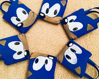 Sonic Theme Foam Hand Painted Party Bags