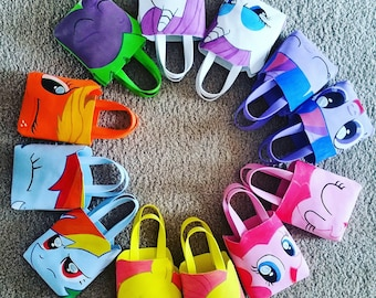My Little Pony Theme Foam Hand Painted Party Bags Pack of 8 and Pack of 12