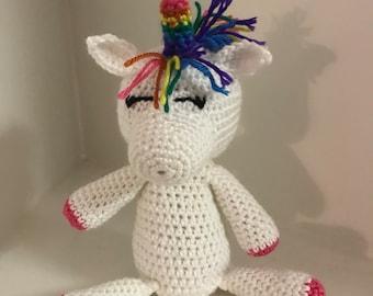Crocheted Unicorn Doll