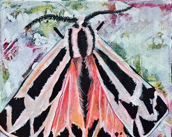 Withdrawn-Original Canvas Moth Painting