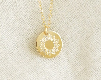 SUNSHINE Necklace in Sterling Silver, Gold Filled, Rose Gold Filled • Sun Necklace • Sunbeam Necklace • Inspirational Necklace • Sun Gift